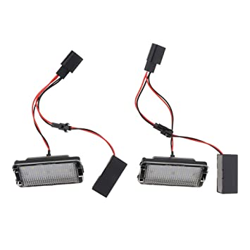 Sharplace Paquete de 2 pcs Bombillas LED de Cola Lámpara Trasera de Matrícula para Coche: Amazon.es: Coche y moto