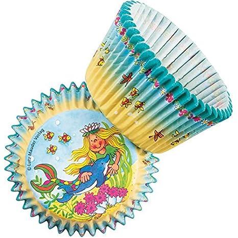 40 moldes * Sina Estrella de mar * DE Lutz Mauder//11243/Fiesta De Cumpleaños/Muffins temática Decorativa Desechables Nixe Sirena: Amazon.es: Hogar