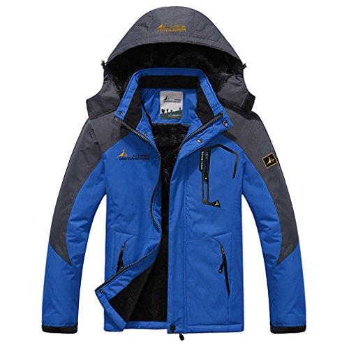 Price comparison product image ParkGorman New Large Size 9 Colors Warm Outwear Winter Jacket Men Windproof Hood Men Jacket Warm Men Parkas Size L-6XL Blue 5XL