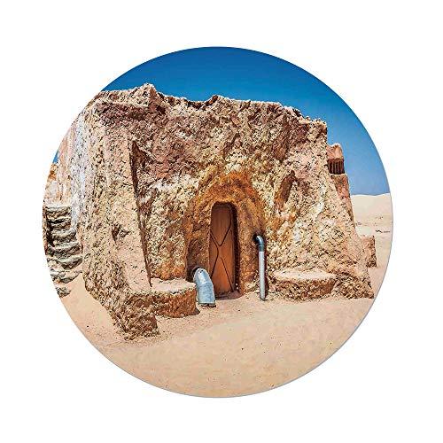 iPrint Mantel redondo de poliéster, decoración de balinés, arcón de un pequeño templo en selva lluvia, verde, escenario...