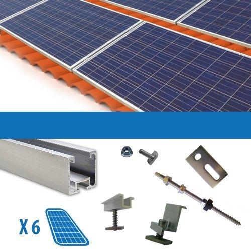 Kit Kit für 6Solarpanel Photovoltaik-250W 1,5kW Dächer mit Krempe