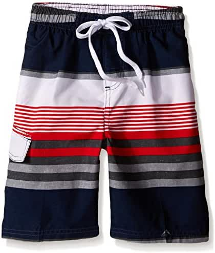 Kanu Surf Boys' Optic Stripe Swim Trunk