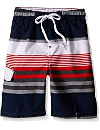 Boys Swim Trunks AMERICAN FLAG LOOK Red White Blue S 6-7 M 8-10 L 12-14 XL 16-18