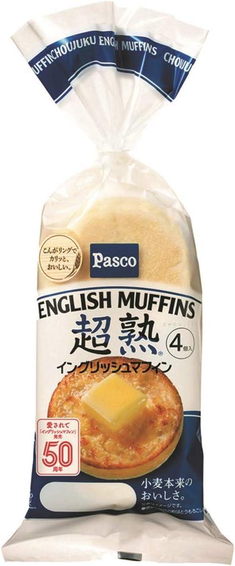 パスコの『超熟イングリッシュマフィン 4個入』のパッケージ袋