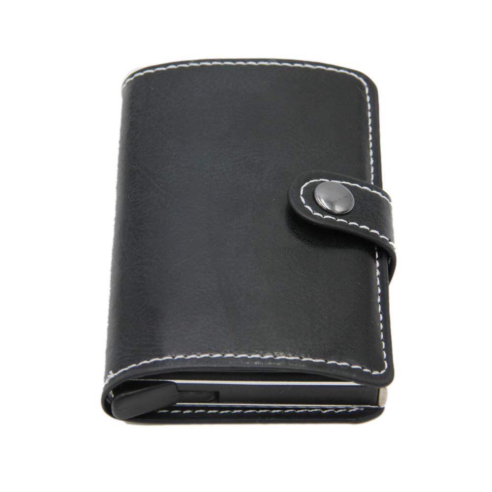 Marron Porte-Cartes de cr/édit Vintage pour Hommes Anti-vol Bloc RFID Portefeuille en Cuir Unisexe Information de s/écurit/é en m/étal Porte-Monnaie