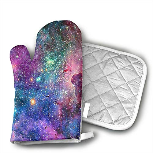 Unisex Oven Mitt and Pot Holder for Pink Blue Galaxy Mouse Pad Anti-Slip Pad Mat Mice Mousepad Desktop Mouse Pad Laptop Mouse Pad Gaming Mouse Pad by INFOPOSUSA - 2 Pair