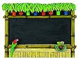 23In. H 30In.W Chalkboard Tiki Bar
