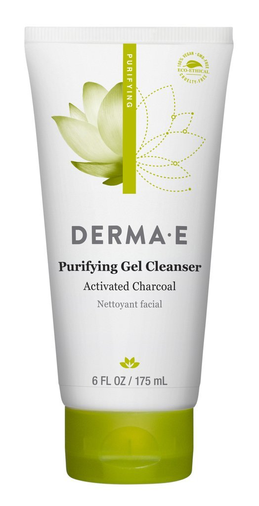 DERMA-E Purifying Gel Cleanser With Marine Algae and Activated Charcoal 6 oz