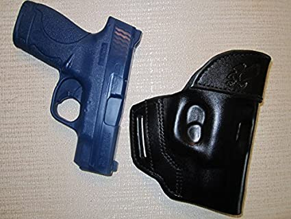 OWB Leather Belt Slide Gun Holster For Smith /& Wesson M/&P 9C 40 Cal