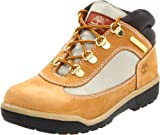 Timberland Leather and Fabric Field Boot (Toddler/Little Kid/Big Kid),Wheat,5 M US Big Kid