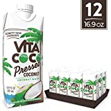 Vita Coco Coconut Water, Pressed Coconut | Impossible To Hate | Tastes Like Coconut | Naturally Hydrating | Gluten Free | 16.9 Oz (Pack Of 12)