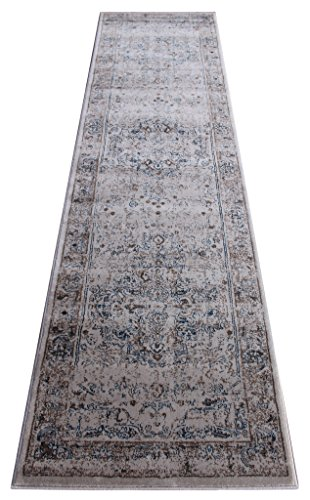 Masada Rugs Oriental Vintage Distressed Area Rug Rafael Collection (32 Inch X 10 Feet Runner) (Rafael Area Rug)