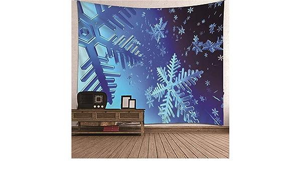 Daesar Tapiz de Habitacion,Copo de Nieve Tapiz de Tela Pared Poliéster Azul Tapiz Decorativo Pared 150x150CM: Amazon.es: Hogar