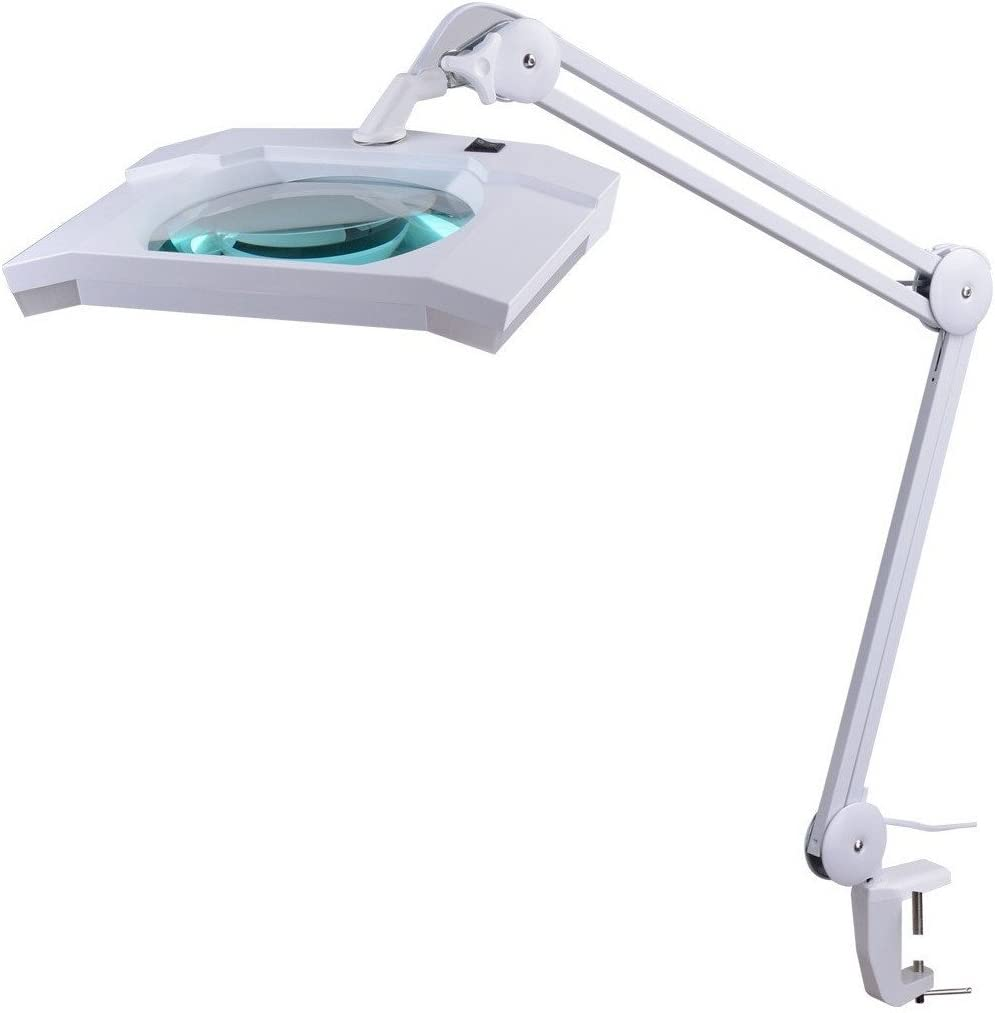 mit St/änder Verstellbare H/öhe 3X LED Kosmetiklampe 6500K 15W LED Kaltlicht Lupenleuchte Kosmetik Lupenlampe f/ür Sch/önheit Lesehilfe