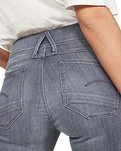 G-STAR RAW Damen Lynn D-Mid Waist Super Skinny Jeans, Grau (medium Aged 9296-071), 24W / 34L 3