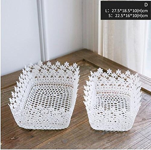 Inteeon home series 2 Pieces Storage Basket Heart Shape Storge Box for Home Organization Floral