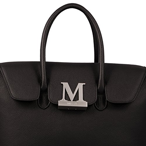Mia Bag Due Manici 14670L-PE Emma Leather Nero