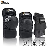 #1: JBM international JBM Adult/Child Knee Pads Elbow Pads Wrist Guards 3 In 1 Protective Gear Set For Multi Sports Skateboarding Inline Roller Skating Cycling Biking BMX Bicycle Scooter