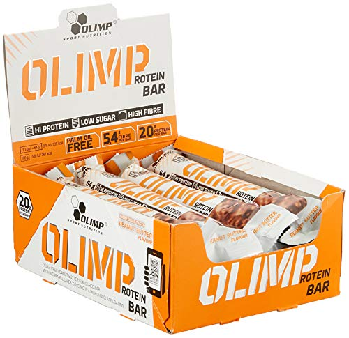 Olimp Protein Bar, Peanut Butter, 12 x 64 g Riegel