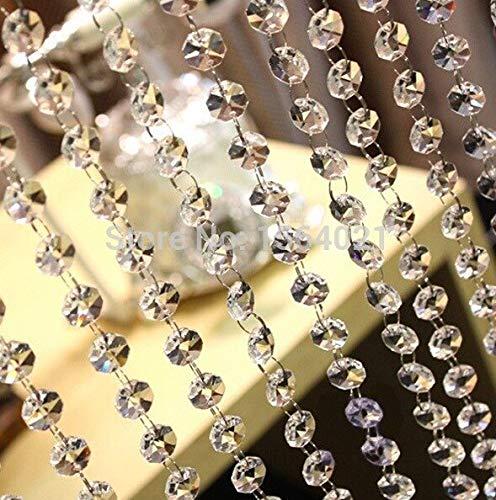 PatyHoll 33 Ft Crystal Clear Acrylic Bead Garland Chandelier Hanging Wedding Decoration