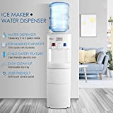 DELLA 2 in 1 Water Dispenser w/Built-in Ice Maker Machine Freestanding Hot and Cold Top Loading 3-5 Gallon Bottle