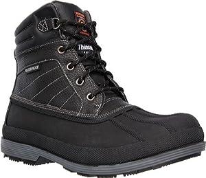Skechers for Work Men's Duck Rain Boot, Black, 8 M US
