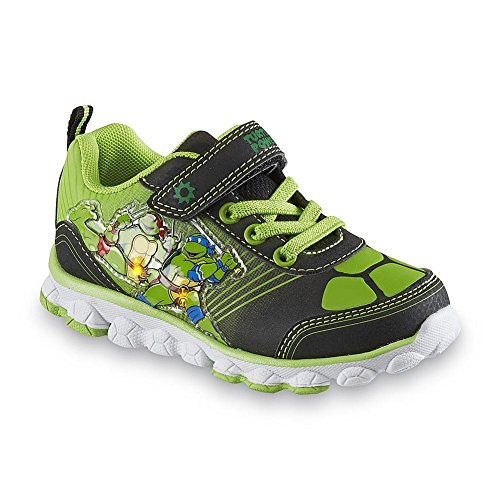 Nickelodeon Boy's Teenage Mutant Ninja Turtles Shoe, Green/black Light-up (13)