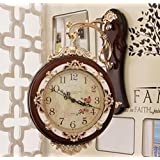 European and American styleSided wall clock, the living room fashion mute European-style wall clock, creative double-sided clock clock on both sides of the wall clock