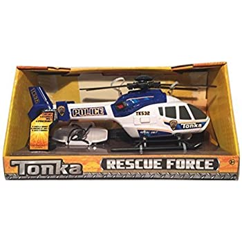 Tonka Rescue Force Police Helicopter - Lights and Sound, Blue and White