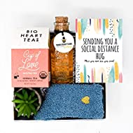 UnboxMe Care Package For Women | Get Well Soon Gift Feel Better Soon | Stress Relief Gift Self Care Encouragement Gift Nurse Gift Bff Gift, Cancer Gift, Happy Birthday Gift (Social Distance Hugs Card)