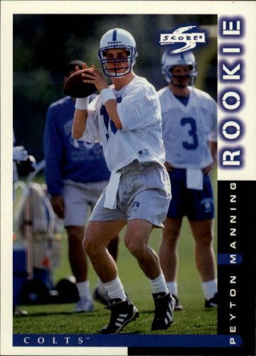 1998 Score Football Rookie Card #233 Peyton Manning Near Mint/Mint