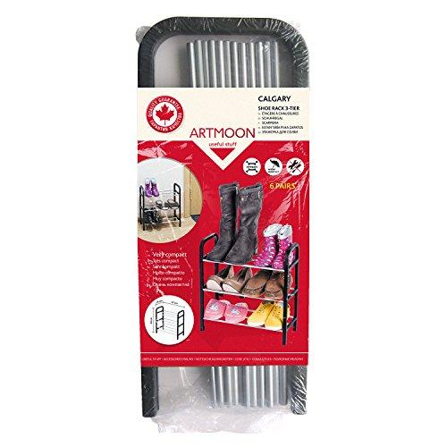 ArtMoon Calgary zapatero de 6 pares acero/plástico 42 x 19 x 44 cm ...