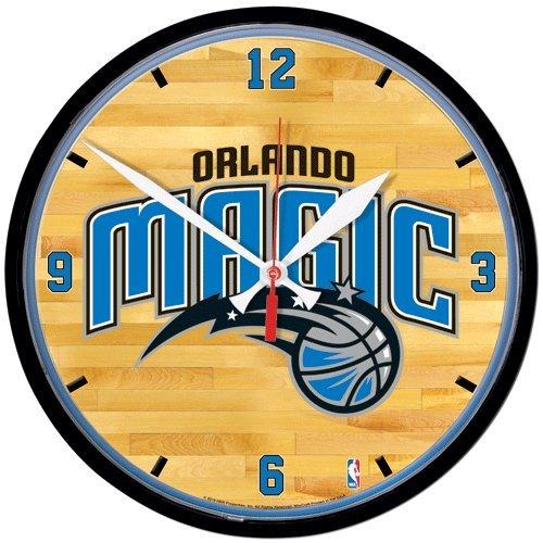 WinCraft Orlando Magic Official NBA 17 inch x 16 inch Round Chrome Wall Clock 278114 (Orlando Magic Round Wall Clock)
