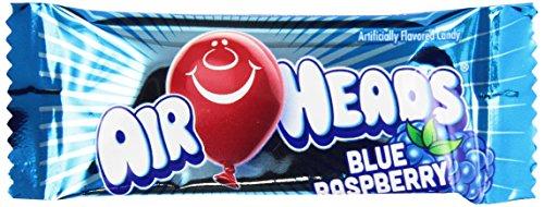 AirHeads Fruit Bars Mini Bulk Case, Blue Raspberry, Non Melting, 8 Pound]()