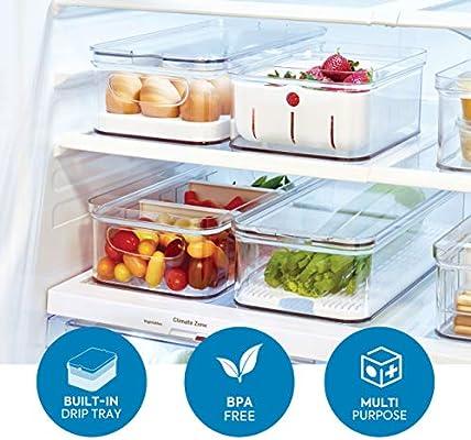 iDesign Frutas y Verduras, Caja de plástico Libre de BPA ...