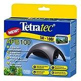 Tetra APS100 Silent Aquarium Air Pump for 50 - 100 Litre Fish Tanks, Black