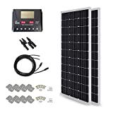 HQST 200 Watt 12 Volt Monocrystalline Solar Panel Kit with...