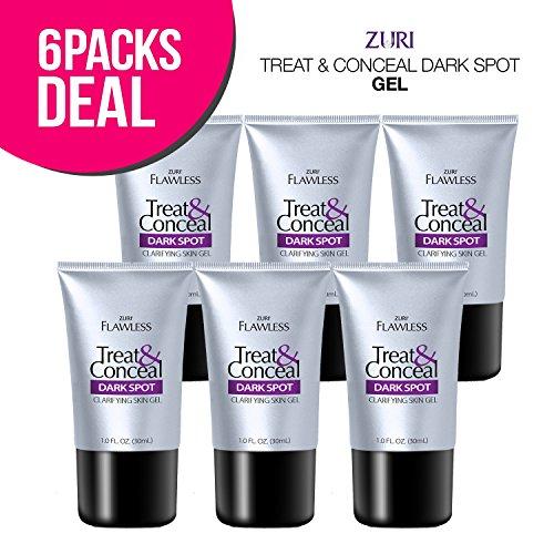 Zuri Flawless Treat & Conceal Dark Spot Skin Clarifying Skin Gel 1 oz. (Pack of 6) by Zuri