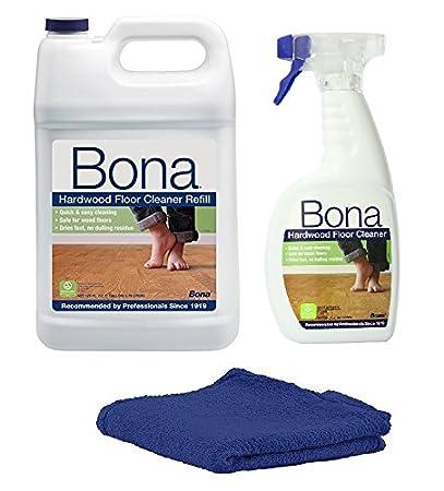 bona hardwood floor cleaner refill 128 oz clear 160 oz kit