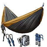 "There are a lot of camping hammocks to choose from on Amazon. Why do you choose from us? Hammock: Our hammock is a double hammock(size: 118"" x 78"") rather than single hammock.Compare to the other hammocks, it's not only larger but also feels soft and..."