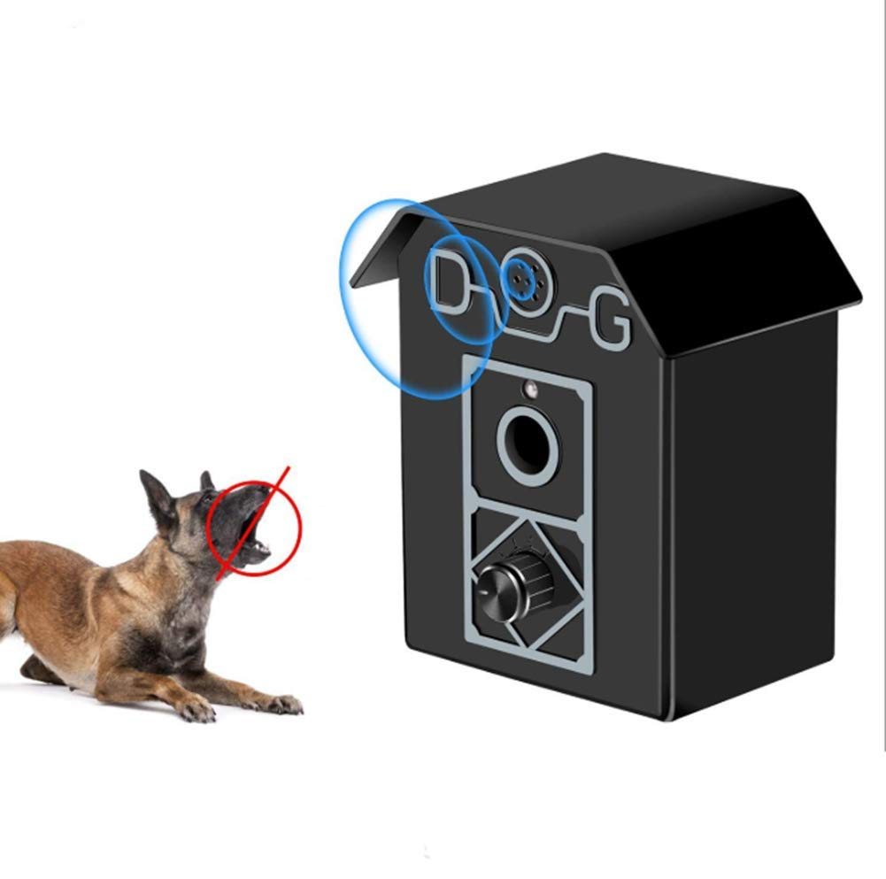 Ultrasonic Dog Bark Controller Durable and Waterproof Alarm Clock Design Does not Contain Battery Indoor Outdoor Anti Barking for Pet Training up to 50 Feet Range