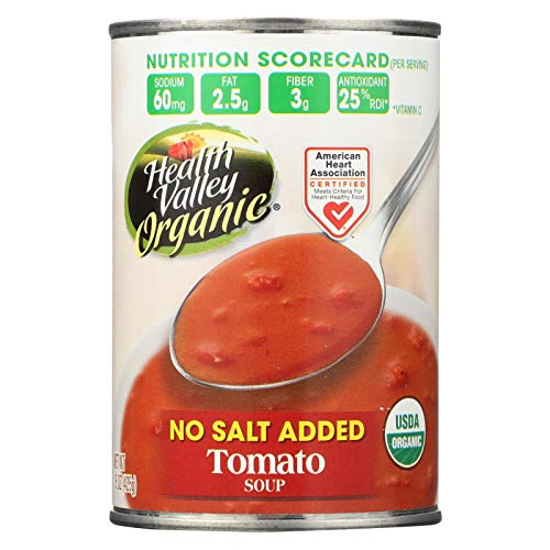 Health Valley Organic Soup - Tomato No Salt Added - Case of 12-15 Oz.