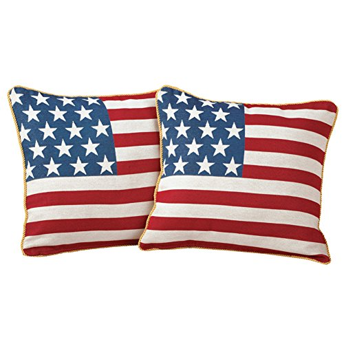 Collections Etc Americana, USA Flag, Decorative Throw/Accent