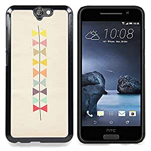 For HTC ONE A9 - bowtie pattern beige art /Modelo de la piel protectora de la cubierta del caso/ - Super Marley Shop -