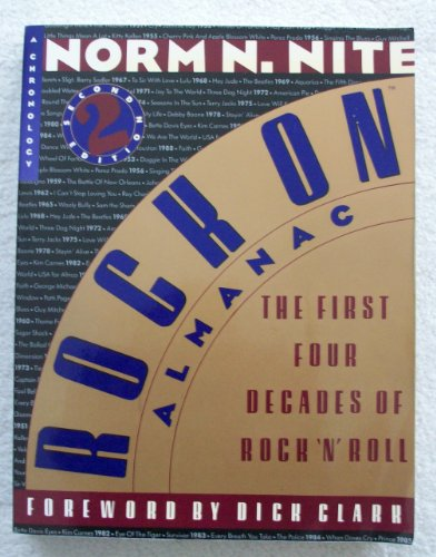 Books : Rock On Almanac: The First Four Decades of Rock 'N' Roll : A Chronology