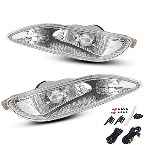55w Clear Lens - AUTOSAVER88 Fog Lights 9006 12V 55W Halogen Lamp Clear Lens w/Bulbs For Toyota Camry 2002-2004 Corolla 2004-2008 Solara 2002-2003