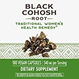 Nature's Way Black Cohosh Root, 540 mg per serving, Non-GMO, Gluten Free, 180 Capsules