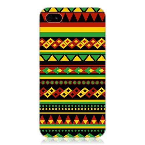 Head Case Designs Coque pour Apple iPhone 4 et 4S Motif aztèque rasta coloré