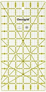 Omnigrid 6-Inch by 12-Inch Quilter's Ruler