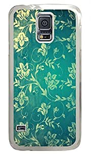 Vintage Floral Wall Clear Hard Case Cover Skin For Samsung Galaxy S5 I9600